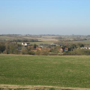 Dairy Farm with views across the fields to Nedging